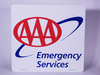 AAA EMERGENCY SERVICE TIN SIGN