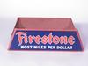 1930S FIRESTONE TIRES CARDBOARD DISPLAY STAND