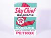 1963 TEXACO SKY CHIEF GASOLINE PORCELAIN PUMP PLATE SIGN