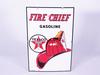 1963 TEXACO FIRE CHIEF GASOLINE PORCELAIN PUMP PLATE SIGN