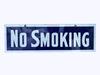 1920S-30S NO SMOKING PORCELAIN SIGN