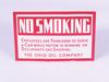 1930S THE OHIO OIL COMPANY NO SMOKING TIN SIGN
