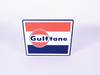 LATE 1950-EARLY 60S GULF OIL GULFTANE PORCELAIN PUMP PLATE SIGN