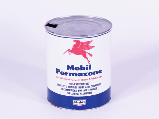LATE 1950S MOBIL PERMAZONE ONE-GALLON ANTI-FREEZE TIN