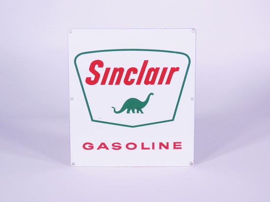 LATE 1950S-EARLY 60S SINCLAIR GASOLINE PORCELAIN PUMP PLATE SIGN