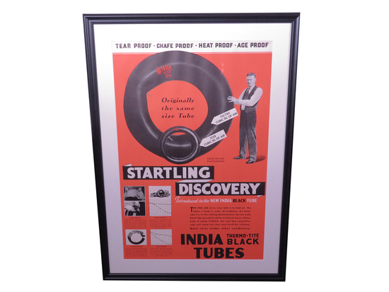 1930S INDIA TIRES SALES POSTER