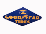 LARGE 1940S GOODYEAR TIRES PORCELAIN SIGN