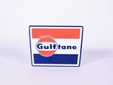 EARLY 1960S GULF OIL GULFTANE PORCELAIN PUMP PLATE SIGN