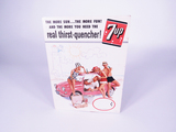 1961 7UP SODA COUNTERTOP CARDBOARD SIGN