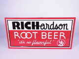CIRCA 1940S RICHARDSON ROOT BEER TIN SIGN