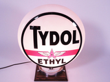 CIRCA LATE 1930S-40S TYDOL WITH ETHYL GAS PUMP GLOBE
