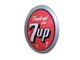 1950S 7UP EMBOSSED DINER SIGN