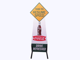 1950S COCA-COLA DOUBLE-SIDED SCHOOL ZONE SIGN