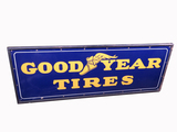 1930S-40S GOODYEAR TIRES WOOD-FRAMED PORCELAIN SIGN