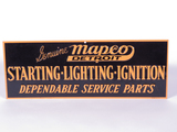 1940S MAPCO SERVICE PARTS EMBOSSED TIN SIGN