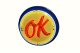 1950S CHEVROLET OK USED CARS PORCELAIN SIGN WITH ANIMATED NEON