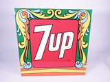 LATE 1960S-EARLY 70S 7UP SODA TIN SIGN