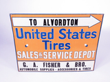 1920S UNITED STATES TIRES TIN SIGN