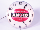 1950S AMOCO AMERICAN GAS LIGHT-UP CLOCK