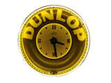 1930S DUNLOP TIRES NEON PORCELAIN CLOCK/SIGN