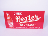 1930S DEXTER BEVERAGES TIN SIGN