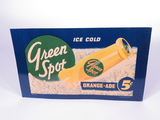 1930-40S GREEN SPOT ORANGE-ADE SODA TIN SIGN
