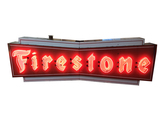 LARGE 1950S DOUBLE-SIDED FIRESTONE NEON SIGN