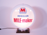 LATE 1950S MARATHON REGULAR MILE-MAKER GAS PUMP GLOBE