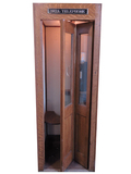 1930S WOODEN BELL PUBLIC TELEPHONE BOOTH