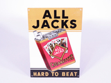 1930S ALL JACKS CIGARETTES TIN SIGN