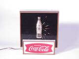 1950S COCA-COLA ANIMATED LIGHT-UP SIGN