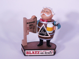 LATE 1950S BLATZ BEER THREE-DIMENSIONAL CAST-METAL DISPLAY PIECE