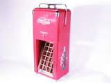 1950S COCA-COLA PICNIC COOLER ON ORIGINAL DISPLAY STAND