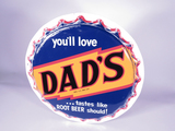 1950S DADS ROOT BEER THREE-DIMENSIONAL TIN SIGN