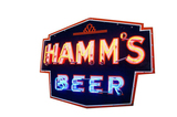 1930S-40S HAMMS BEER PORCELAIN NEON SIGN