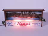 LATE 1950S HAMMS BEER LIGHT-UP CHALET-STYLE SIGN