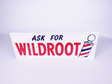 NOS 1956 WILDROOT HAIR PRODUCT TIN SIGN