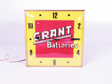 1950S GRANT BATTERIES LIGHT-UP CLOCK