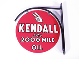 1954 KENDALL OIL TIN SIGN