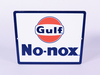 LATE 1950S-EARLY 60S GULF NO-NOX PORCELAIN PUMP PLATE SIGN