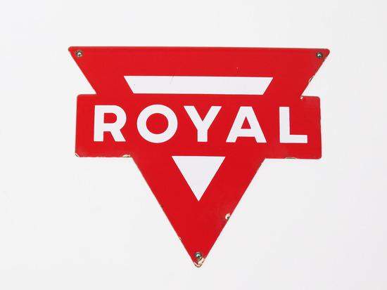 CIRCA 1950S ROYAL GASOLINE PORCELAIN PUMP PLATE SIGN