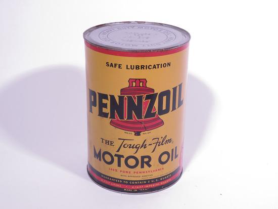 1940S PENNZOIL MOTOR OIL METAL TIN