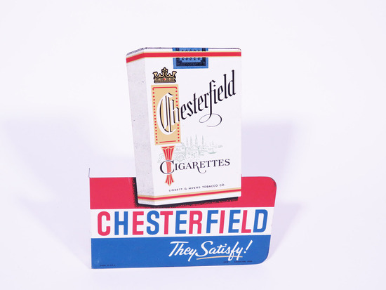 LATE 1950S-EARLY 60S CHESTERFIELD/L&M CIGARETTES DOUBLE-SIDED TIN FLANGE SIGN