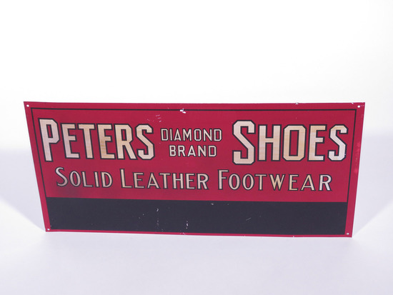 1930S PETERS DIAMOND BRAND SHOES TIN SIGN