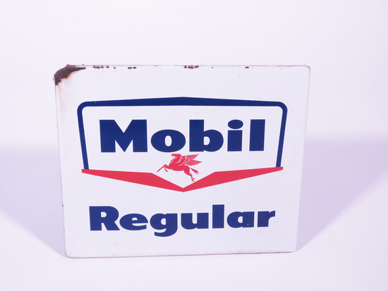 LATE 1950S-EARLY 60S MOBIL REGULAR PORCELAIN PUMP PLATE SIGN