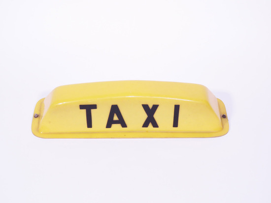 1960S YELLOW CAB TAXI ROOF-MOUNT SIGN