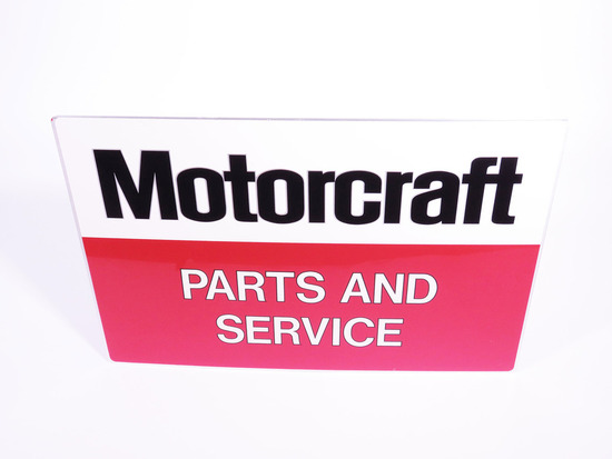 VINTAGE FORD MOTORCRAFT PARTS AND SERVICE TIN SIGN