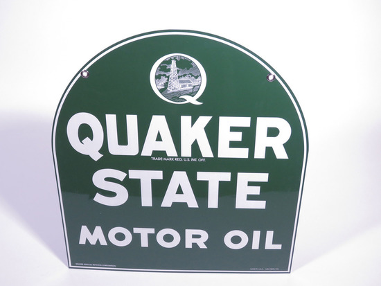QUAKER STATE MOTOR OIL TIN SIGN