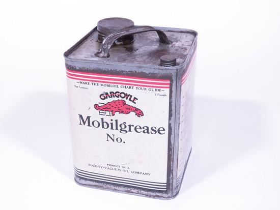 1920S GARGOYLE MOBILGREASE TIN