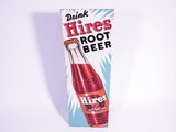 LATE 1940S-EARLY 50S HIRES ROOT BEER EMBOSSED TIN SIGN